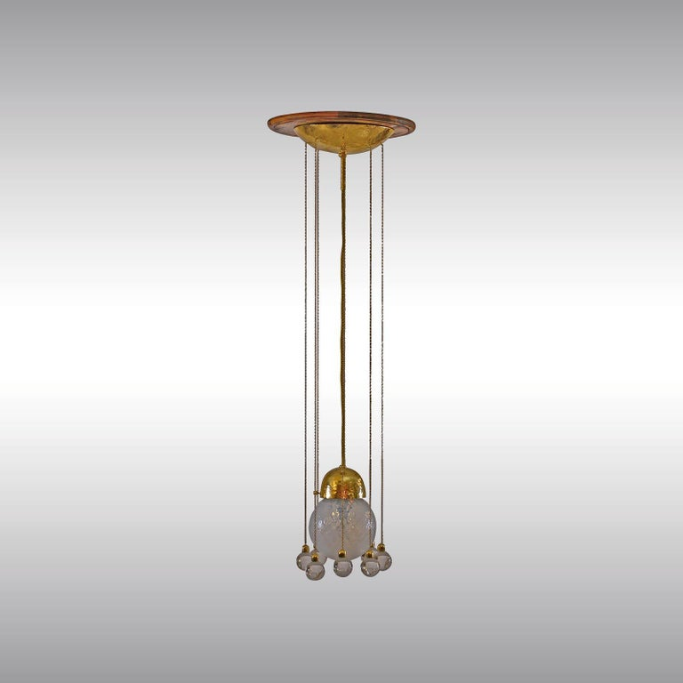 Josef Hoffmann & Wiener Werkstaette Ceiling Lamp, Re-Edition In New Condition For Sale In Vienna, AT