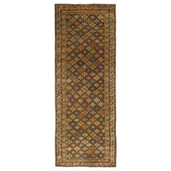 Early 20th Century Karabagh Bold Handmade Wool Runner