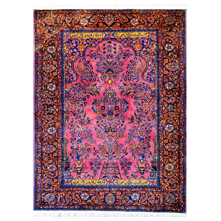 Early 20th Century Kashan Prayer Rug For Sale At 1stdibs
