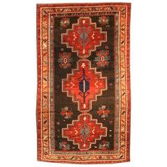 Early 20th Century Kazak Handmade Wool Rug