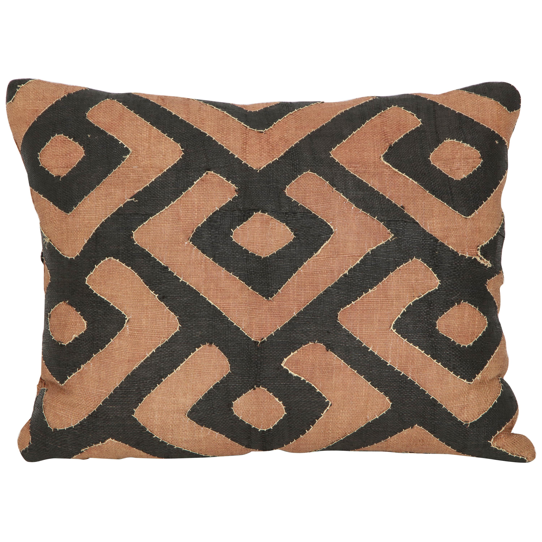 Early 20th Century Kuba Raffia Cloth Pillow
