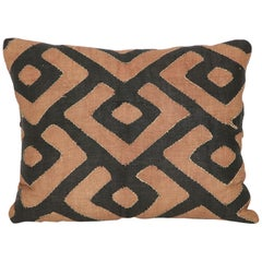 Early 20th Century Kuba Raffia Cloth Pillow