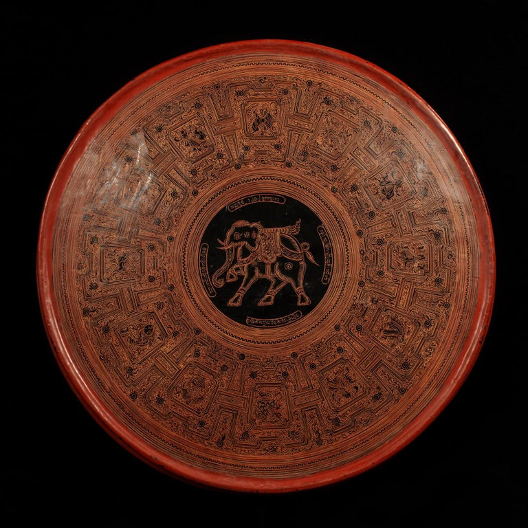 Early 20th Century Lacquer and Bamboo Offering Vessel, Hsun Ok, Pagan, Burma For Sale 1