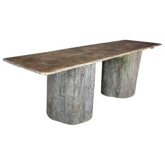 Early 20th Century  Large Dugout Trunk Table