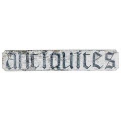 Early 20th Century Large French Hand Painted Antiquities Shop Sign