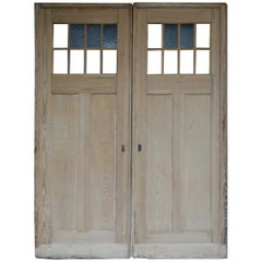 Early 20th Century Large German Doors Made of Pine, Set of 2