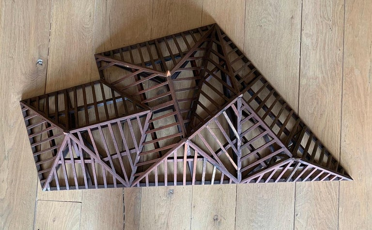 Hand-Crafted Early 20th Century, Large Piece De Maitrise, Architectural Model Roof For Sale