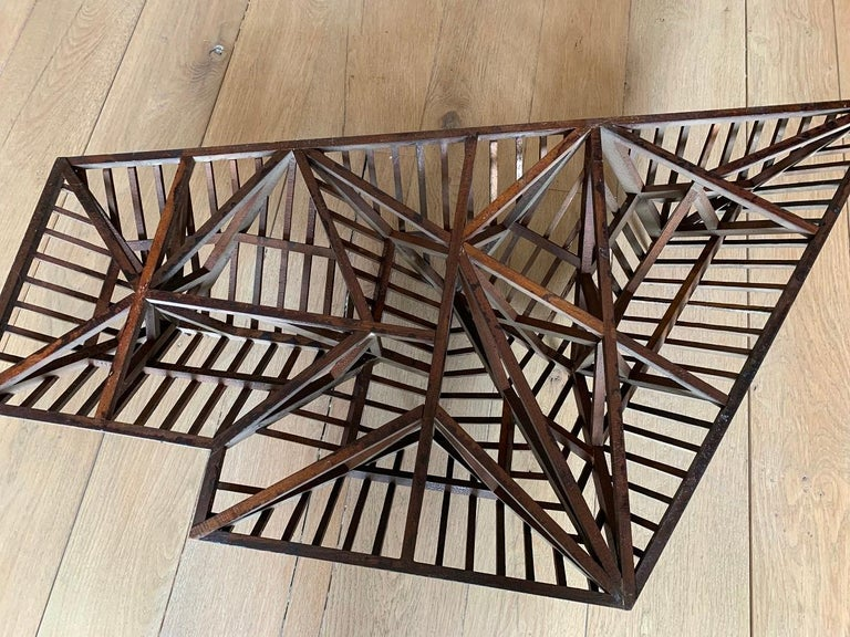 Early 20th Century, Large Piece De Maitrise, Architectural Model Roof For Sale 1