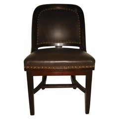 Early 20th Century Leather Desk Chair
