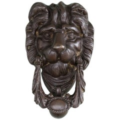 Early 20th Century Lion's Mask Knocker
