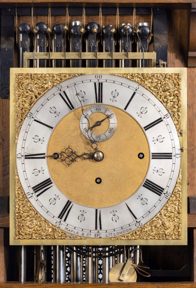 Early 20th Century Longcase Clock by Maples For Sale 5