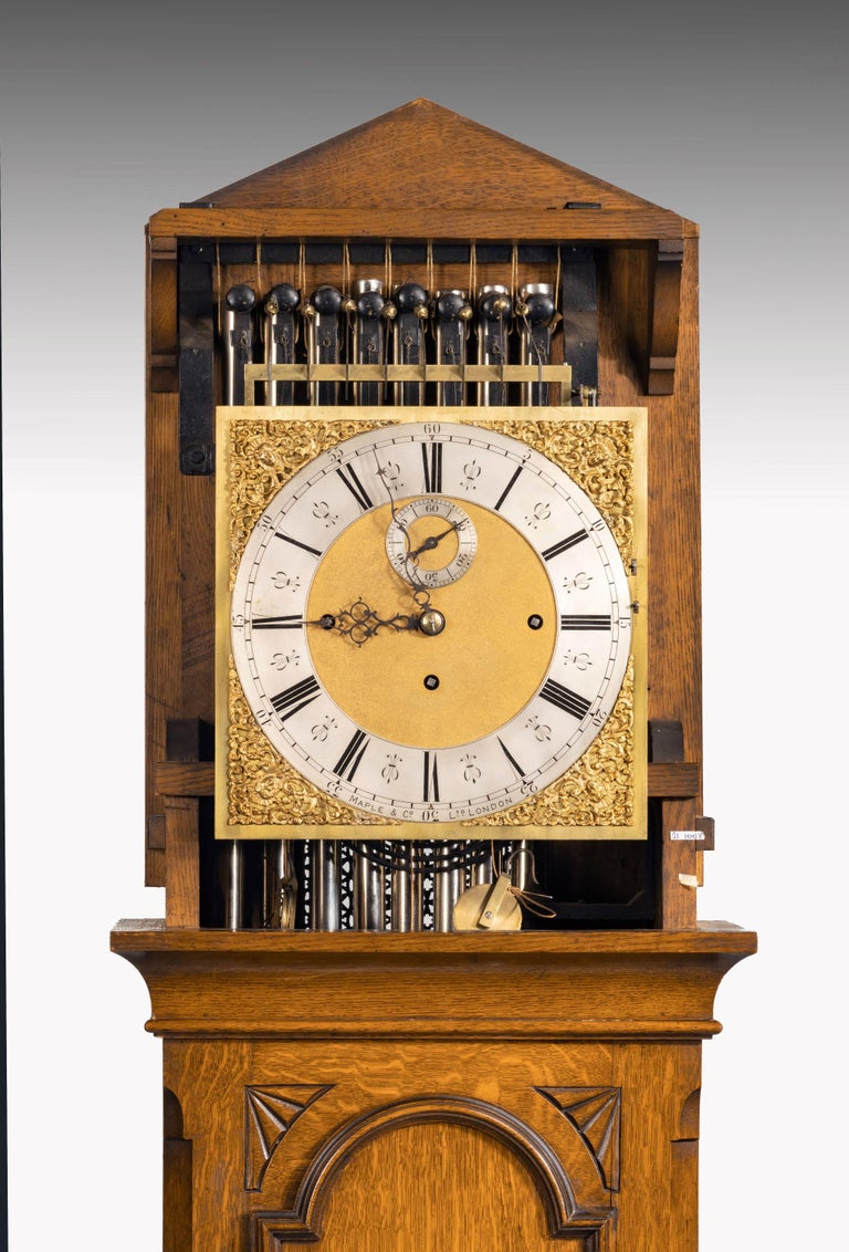 Early 20th Century Longcase Clock by Maples For Sale 7