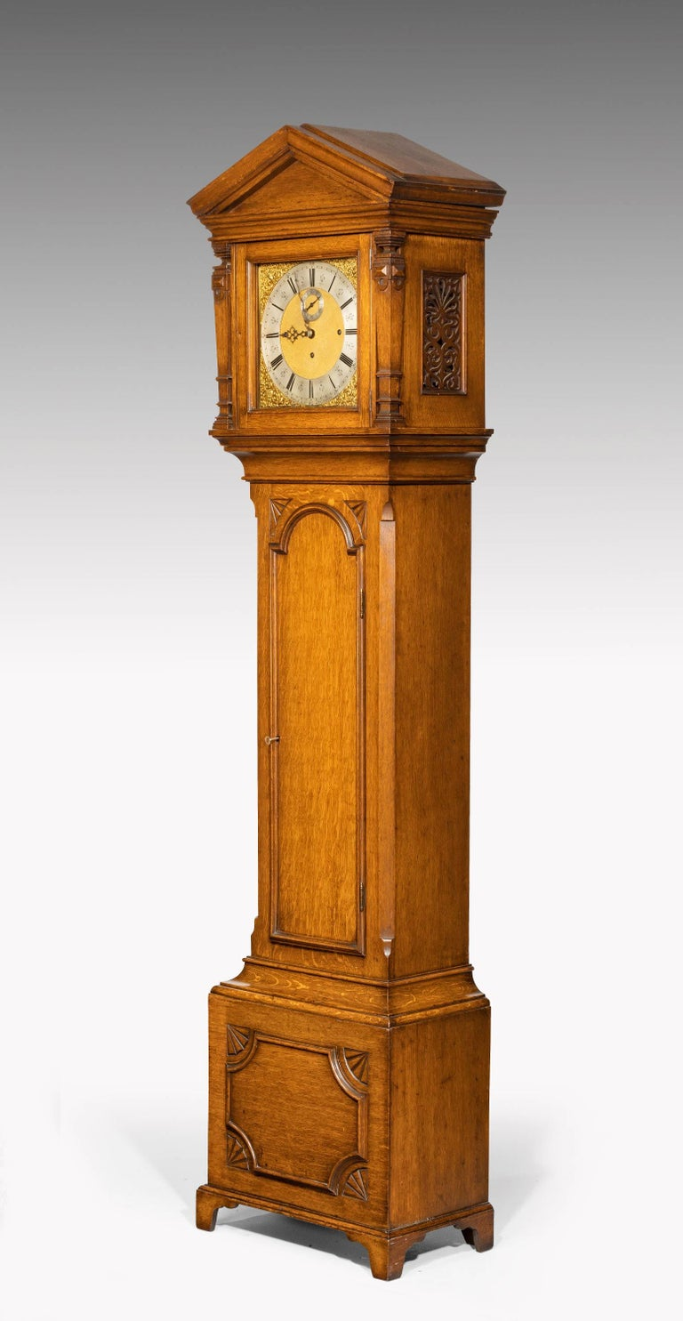 Early 20th Century Longcase Clock by Maples For Sale 1