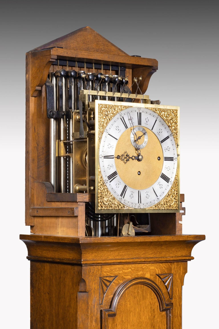 Early 20th Century Longcase Clock by Maples For Sale 3