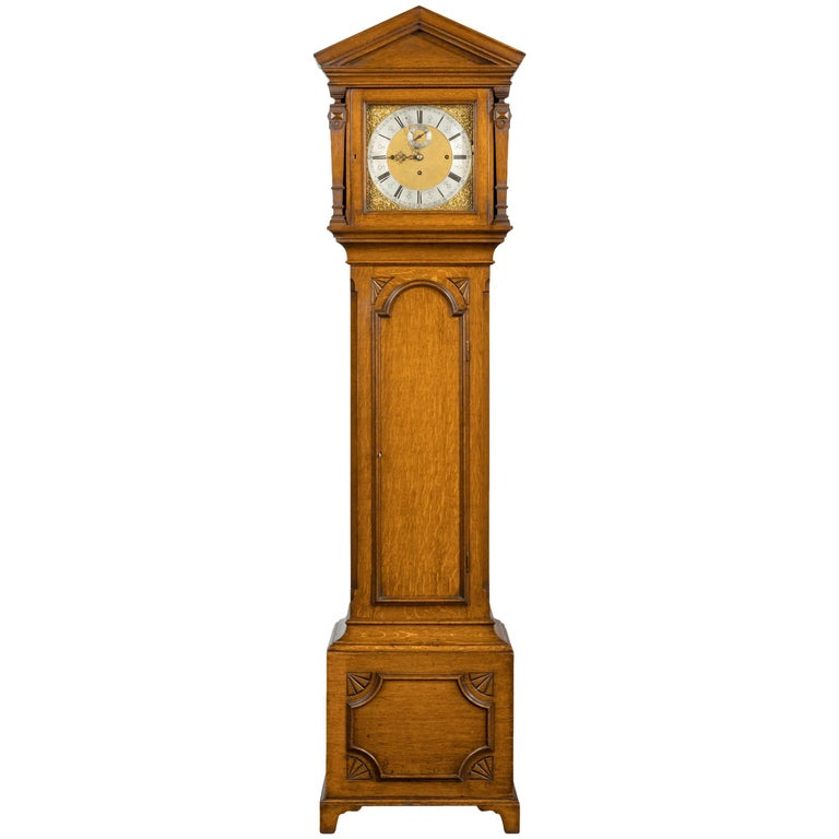 Early 20th Century Longcase Clock by Maples For Sale