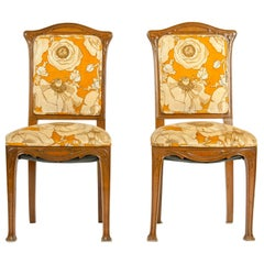 Early 20th Century Louis Majorelle Pair Side Chair