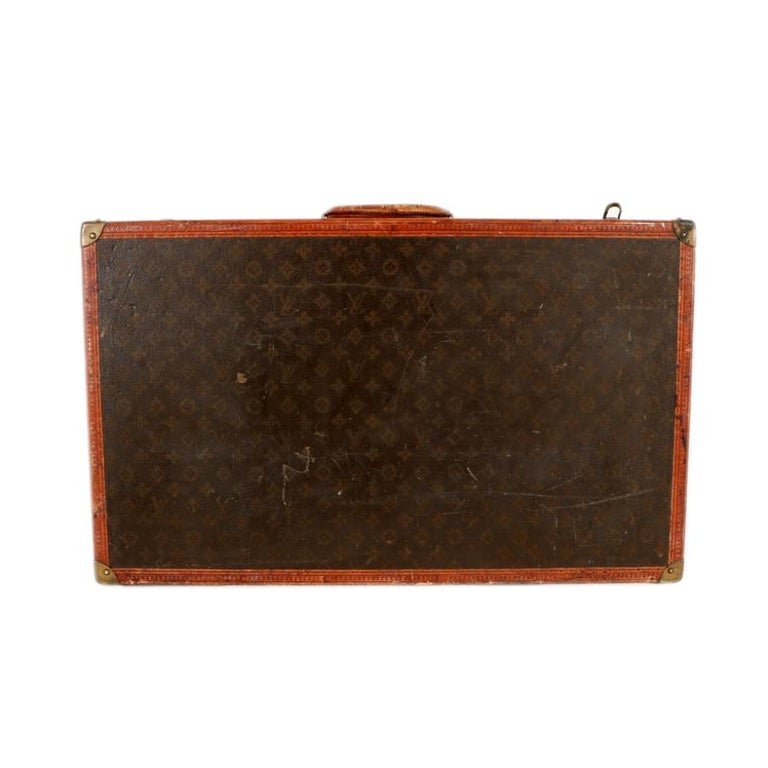 Early 20th Century Louis Vuitton Paris Monogram Canvas Trunk, Travel Suitcase For Sale 8