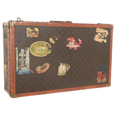 Early 20th Century Louis Vuitton Paris Monogram Canvas Trunk, Travel Suitcase