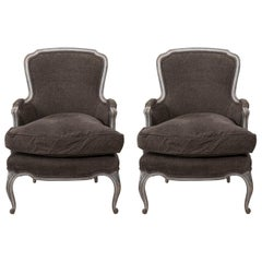 Early 20th Century Louis XV Style Bergère Armchairs