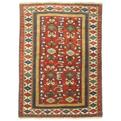 Early 20th Century Madder Red Antique Shirvan Caucasian Rug