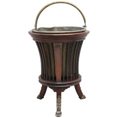 Early 20th Century Mahogany and Brass Jardinière