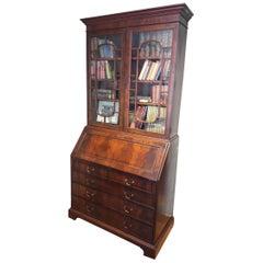 Early 20th Century Mahogany Bureau Bookcase