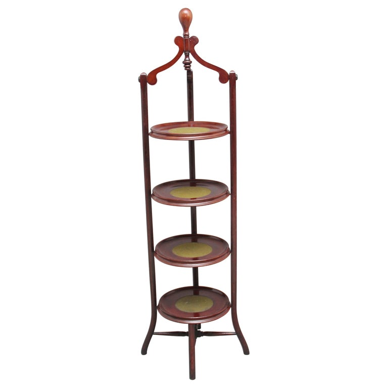 Early 20th Century Mahogany Cake Stand For Sale