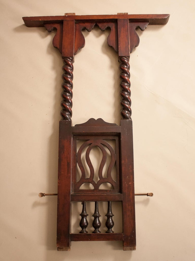 Early 20th Century Mahogany Canopy or Tester Bed from British India For Sale 12