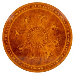 Early 20th Century Mahogany Circular Marquetry Dining Table