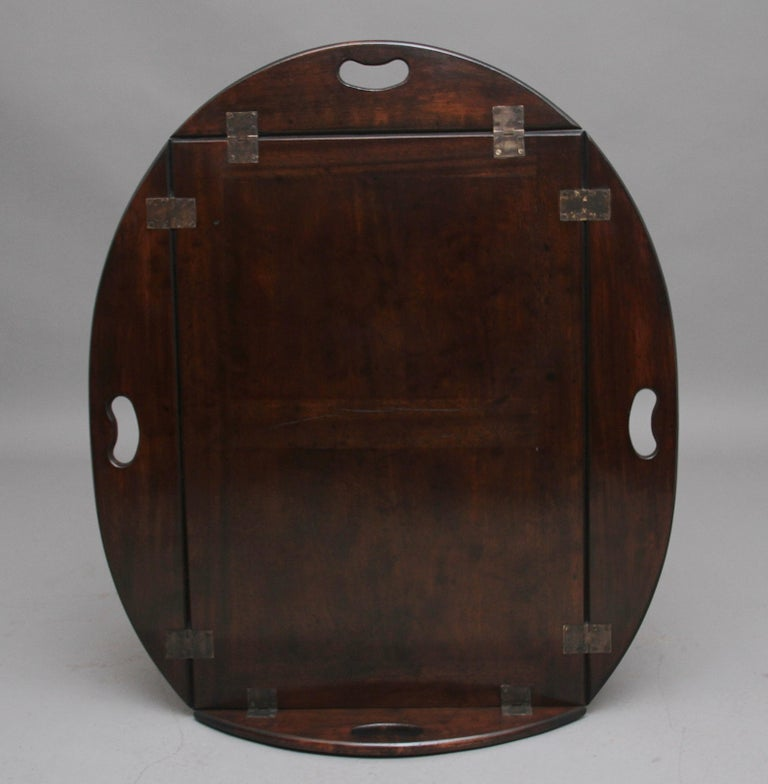 Early 20th Century Mahogany Folding Butlers Tray on Stand For Sale 1