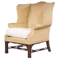 Early 20th Century Mahogany Framed Wing Chair