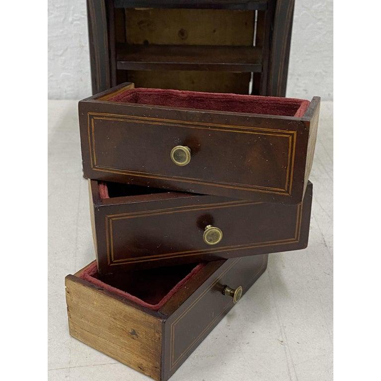 Early 20th Century Mahogany Jewelry Box In Good Condition In San Francisco, CA