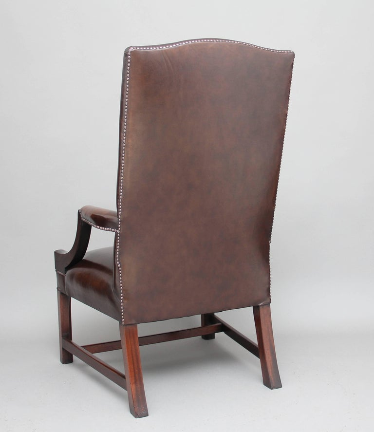 Mid-20th Century Early 20th Century Mahogany Library Chair For Sale