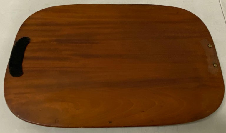 Early 20th Century Mahogany Serving / Bar Tray with Shell Inlay For Sale 2