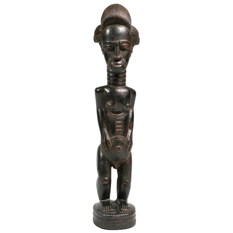 Early 20th Century Male Baule Figure, Ivory Coast, Africa