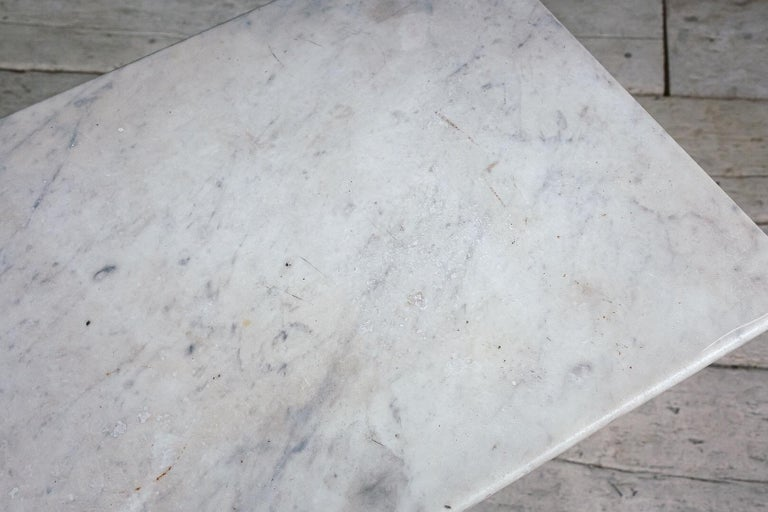 French Early 20th Century Marble and Cast Iron Bistro Table For Sale