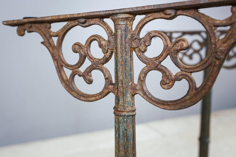 Early 20th Century Marble and Cast Iron Bistro Table For Sale 2