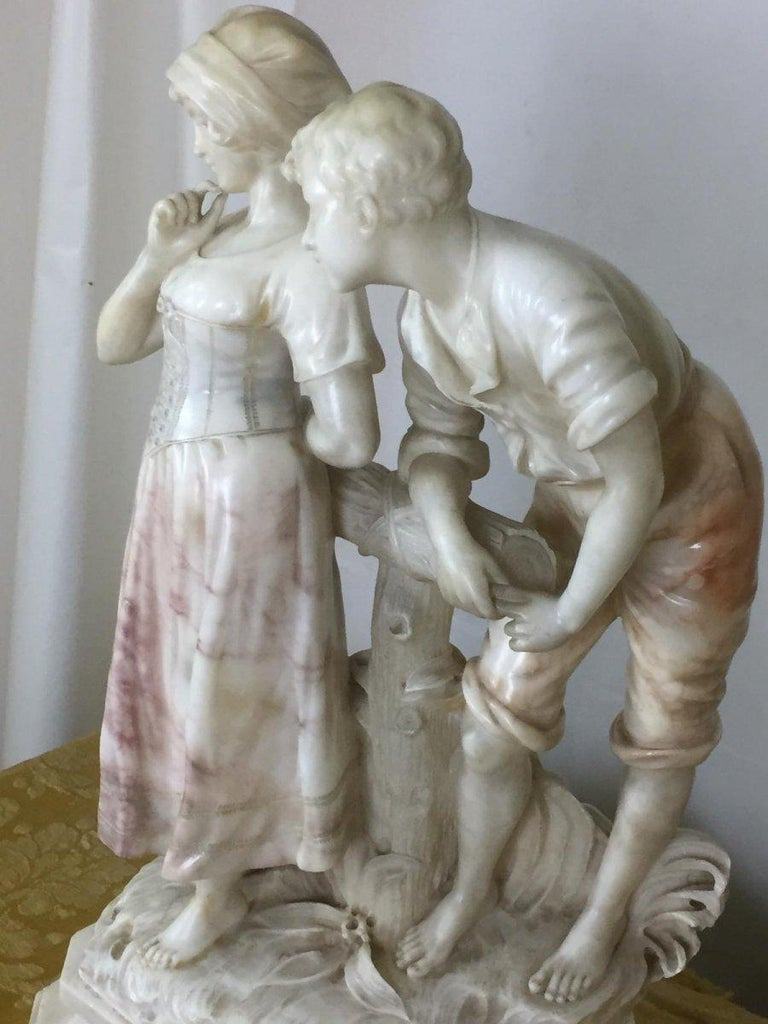 Italian Early 20th Century Marble Sculpture Signed Cipriani