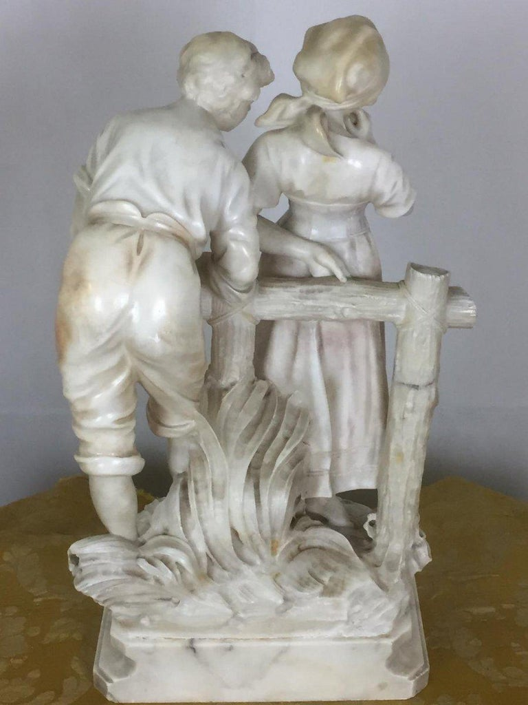 Early 20th Century Marble Sculpture Signed Cipriani 1