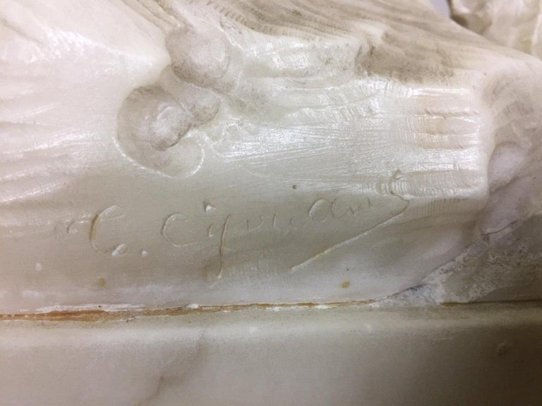 Early 20th Century Marble Sculpture Signed Cipriani 2