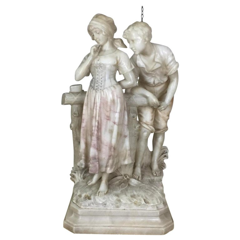 Early 20th Century Marble Sculpture Signed Cipriani
