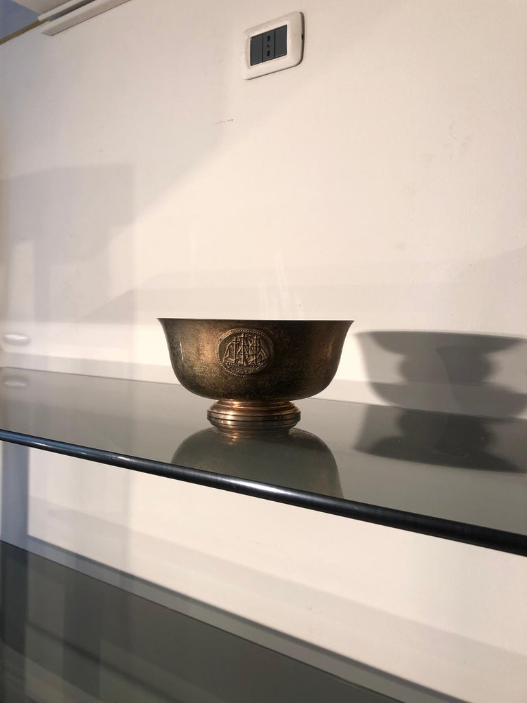 Early 20th century copper bowl marked L.C. Tiffany Furnaces Favrile.   Very good conditions Not restoration needed, original patina. Size: D. 8.26772 inches / 21 cm, H. 4.33071 inches /11 cm. On request we can provide a video of the