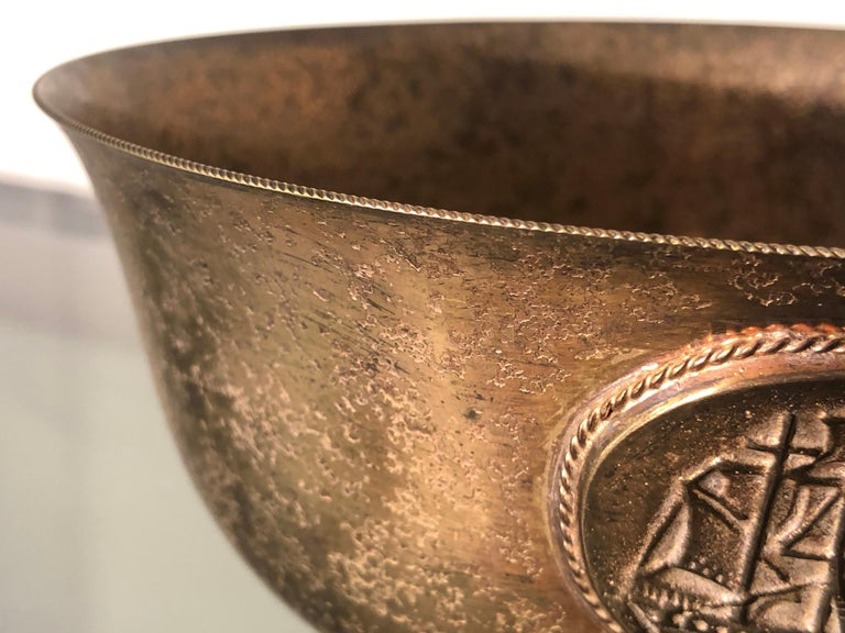 Early 20th Century Marked L.C. Tiffany Rounded Copper Bowl or Valet Tray For Sale 2