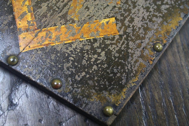 Early 20th Century Masonic Freemasons Tracing Board Coffin Oil on Panel In Fair Condition For Sale In Lowestoft, GB