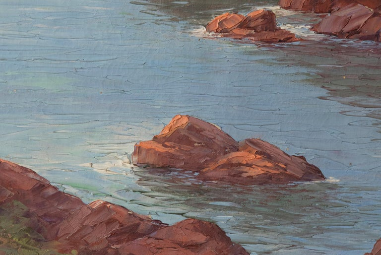 Early 20th Century Mediterranean Coastal Landscape Painting by Clément Boyer For Sale 10