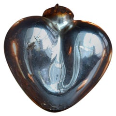 Early 20th Century Mercury Glass Heart