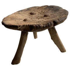 Early 20th Century Mesquite Stool from Mexico