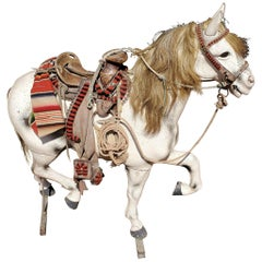 Early 20th Century Mexican Styled Wood Prop Horse