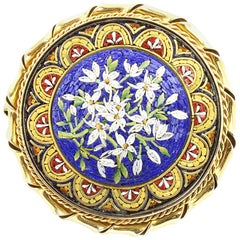 Early 20th Century Micro Mosaic Brooch