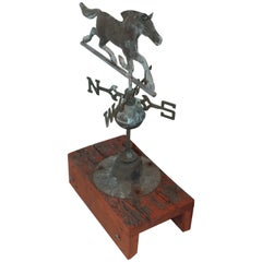 Early 20th Century Miniature Horse Weather Vane and Directionals